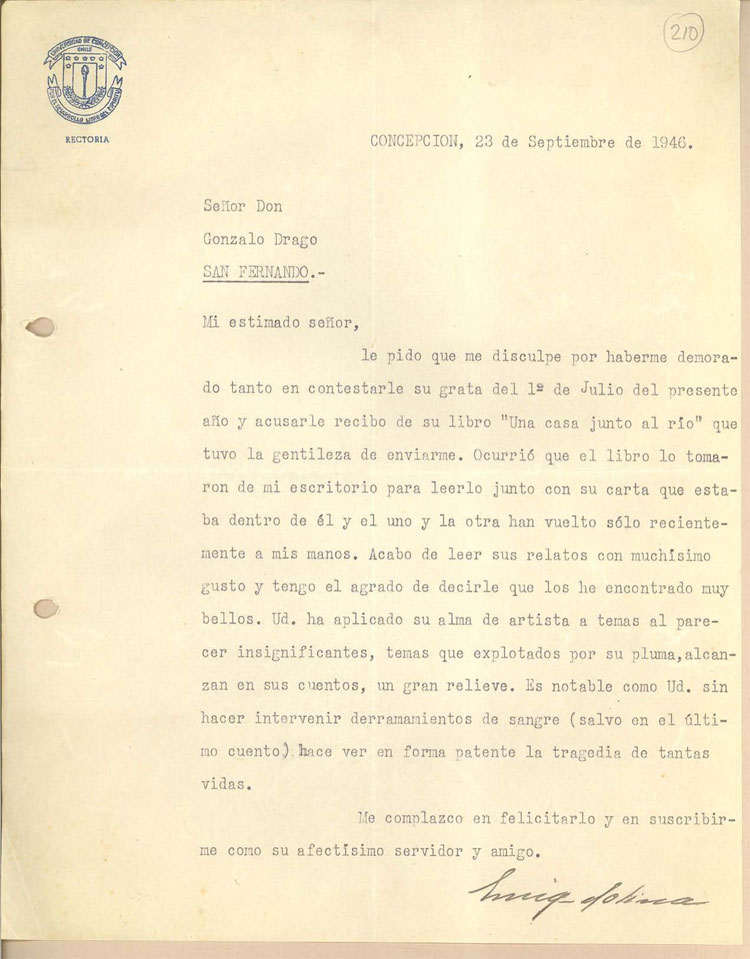 Example of a letter