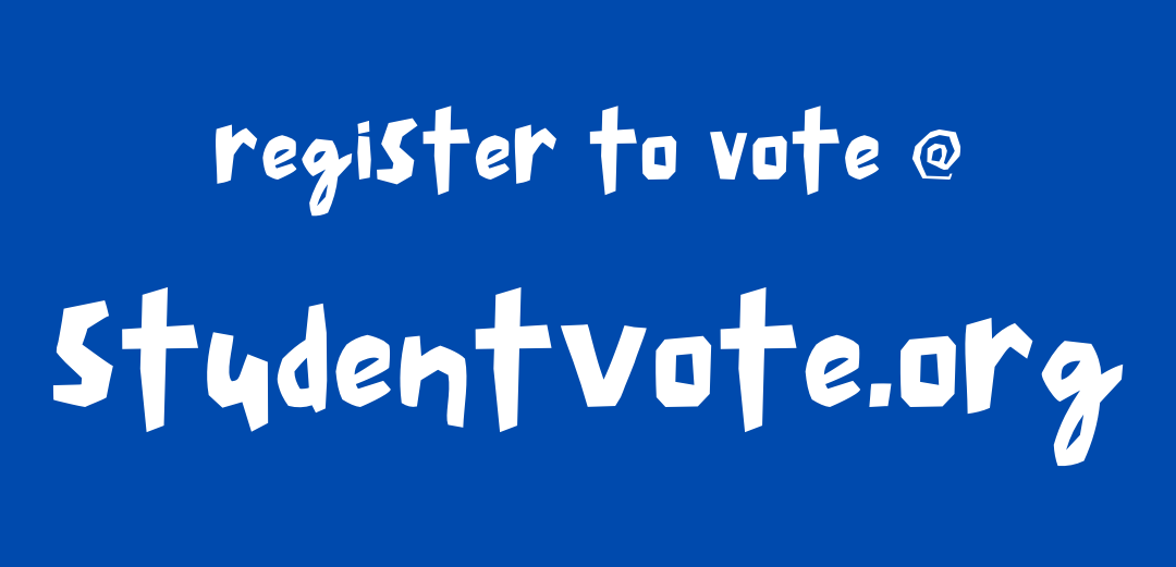 Link: register to vote @ StudentVote.org