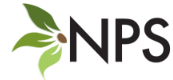 N P S logo with three leaves in three shades of green