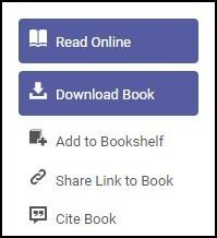 Screenshot of ebook landing page, showing buttons for Read Online, format citation, and stable URL.