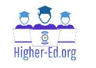 Higher-Ed.org Logo with three icons wearing mortar boards