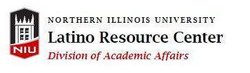 Black and red Latino Resource Center logo