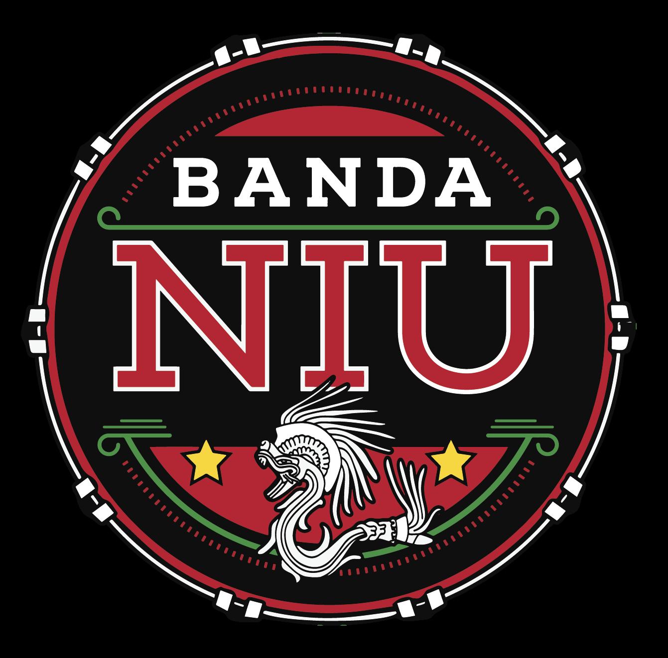 Circular Banda NIU logi in black and red