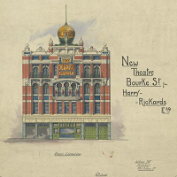 Add to My items 	 Collection of architectural drawings of the Opera House later the Tivoli Theatre, Bourke Street Melbourne.