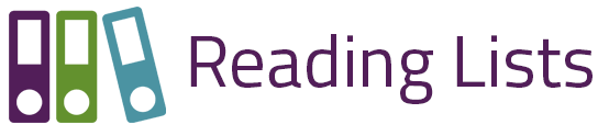 The Reading Lists Logo with three books shown together.