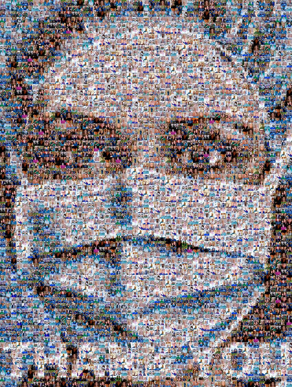 mask collage of thankyou notes sent to healthcare workers
