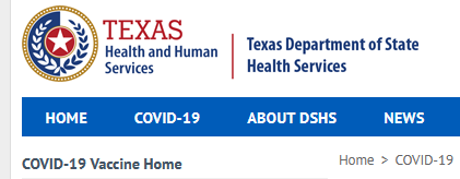 Texas Dept of HHS logo from website