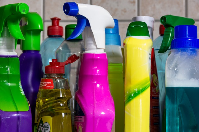 photo of plastic bottles of consumer products
