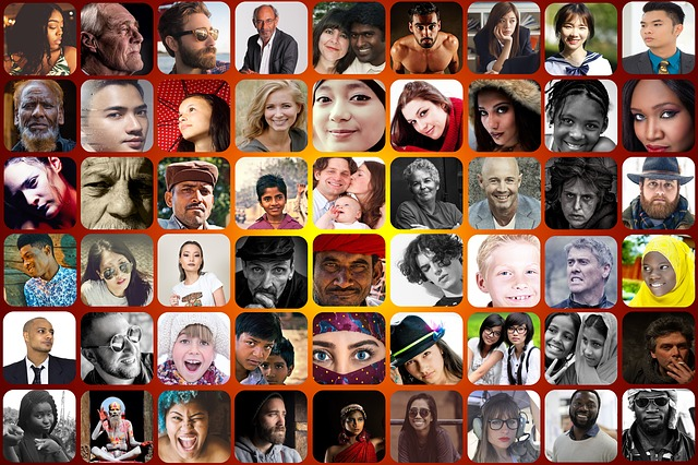 photo-collage of diverse faces