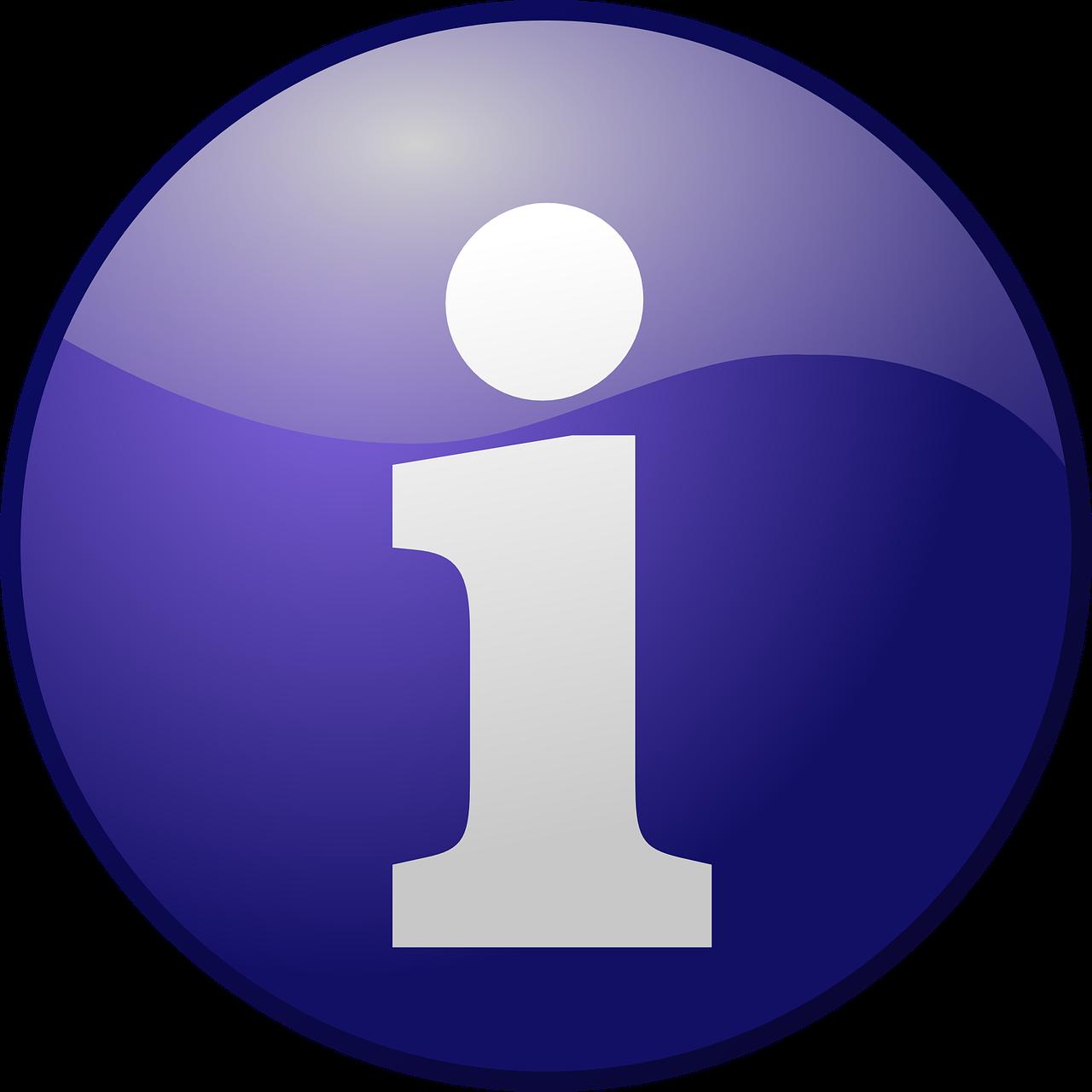 image of i-for-information sign