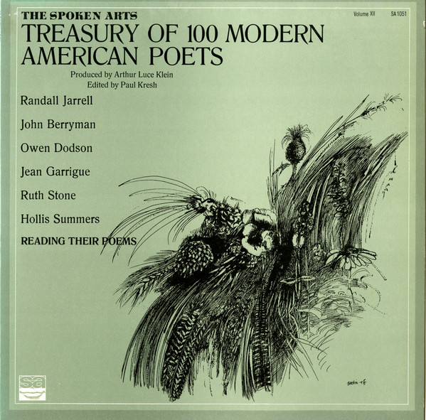 The Spoken Arts treasury of 100 modern American poets
