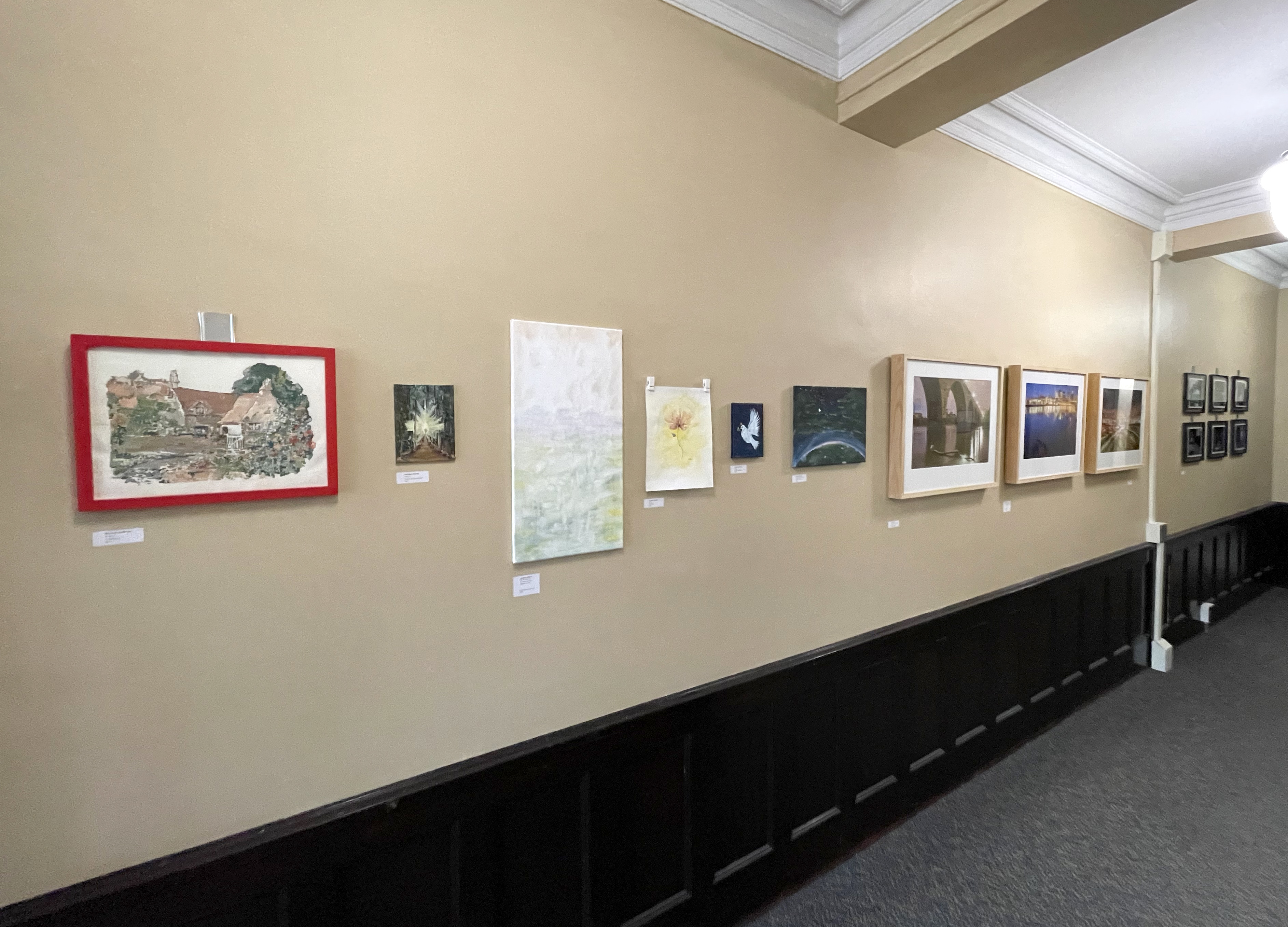 On campus gallery wall view