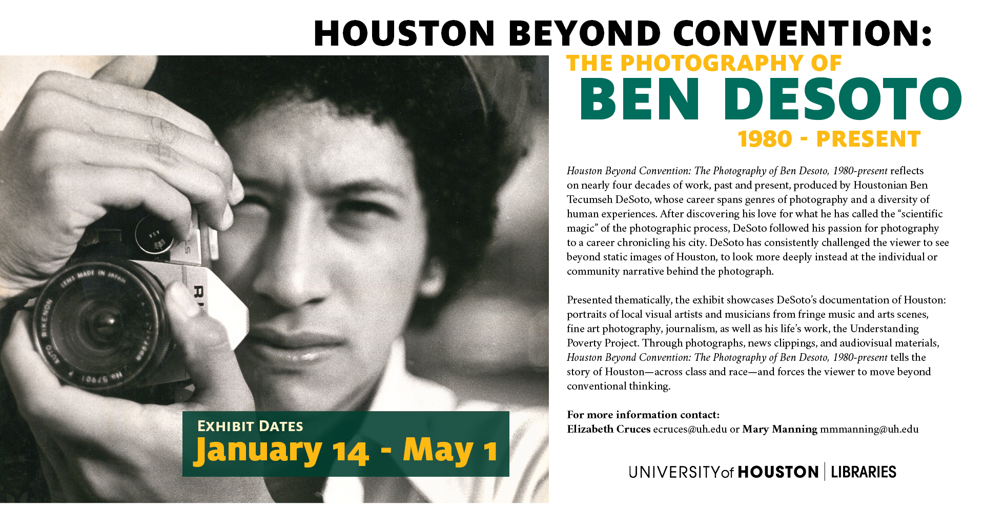 Houston Beyond Convention: The Photography of Ben DeSoto, 1980-present