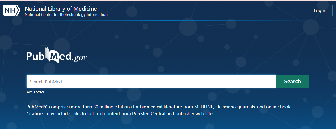 first page of pubmed