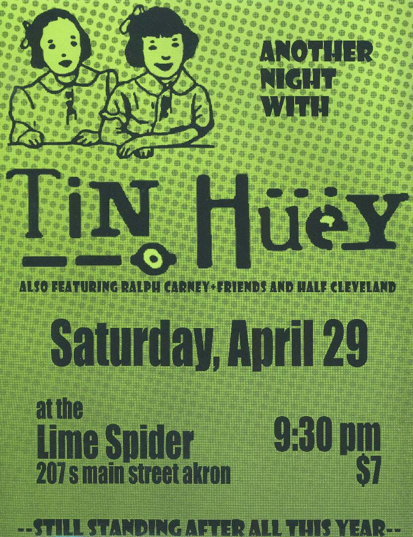 Tin Huey flyer