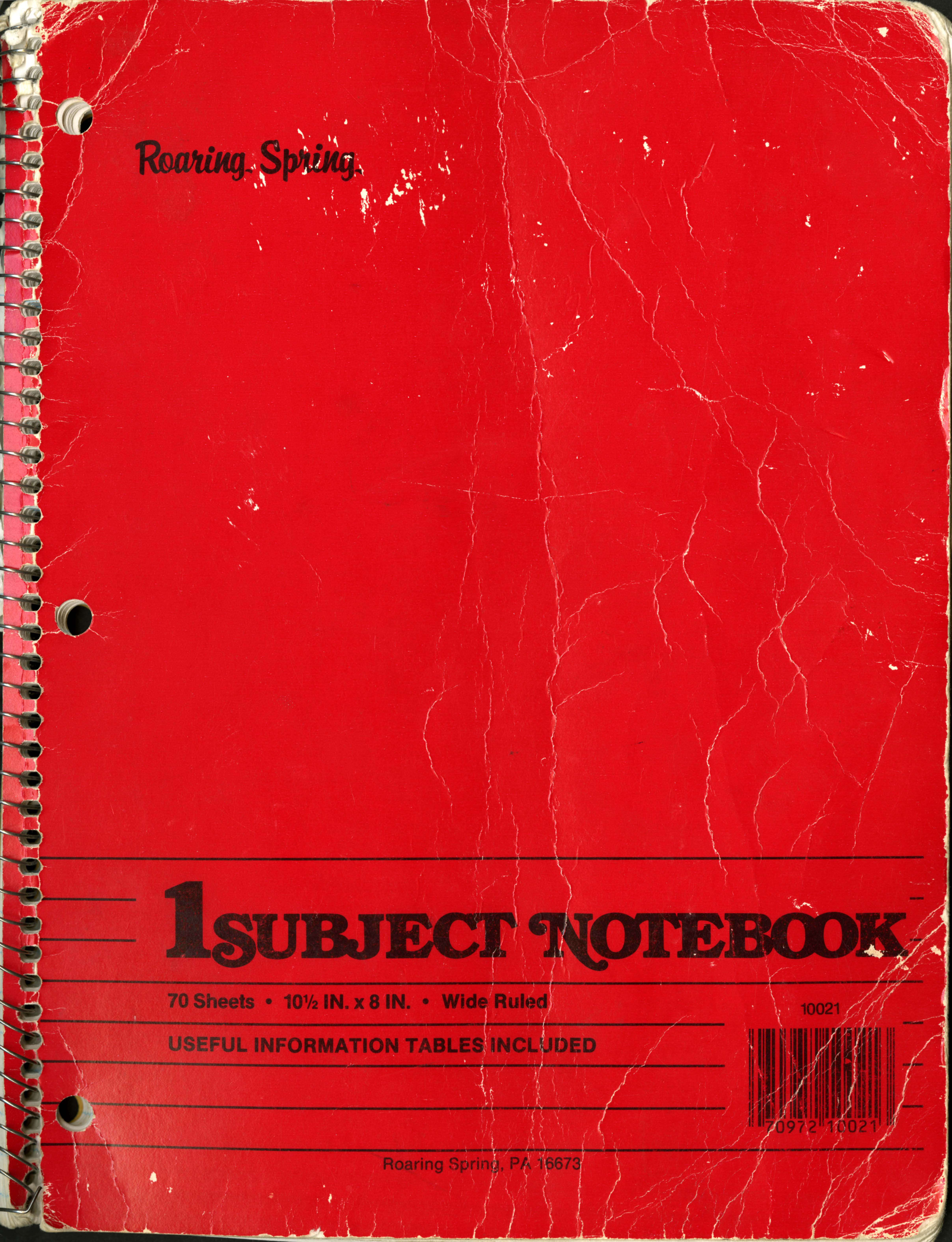 LL Cool J lyric notebook