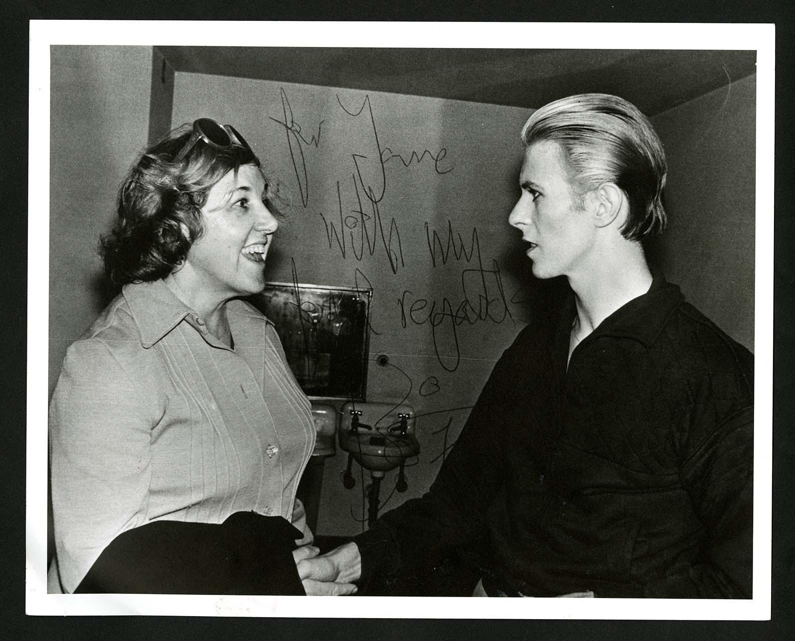 Jane Scott and David Bowie