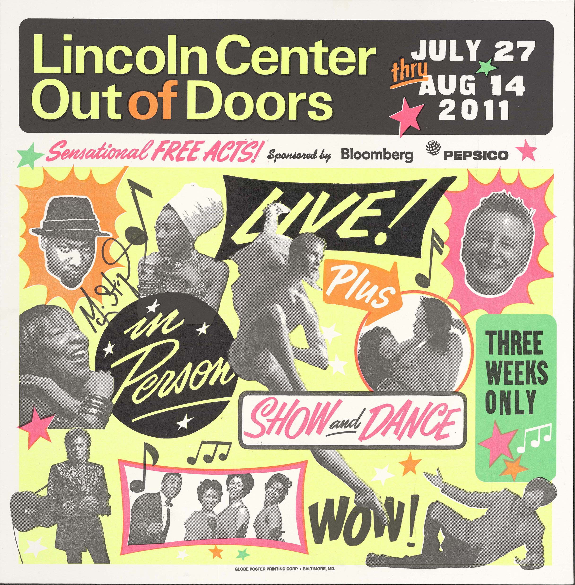 Lincoln Center Out of Doors concert poster