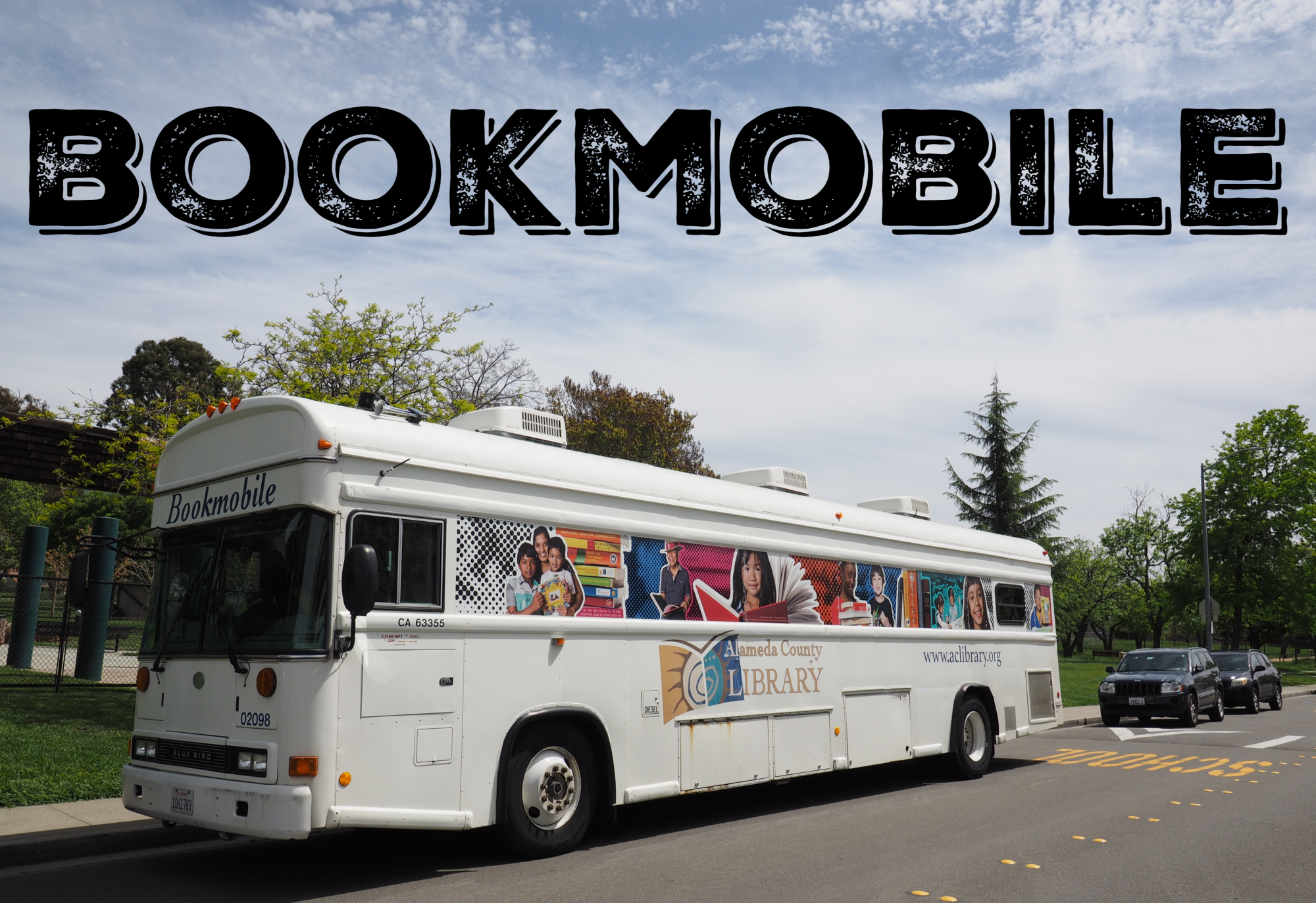 Cherryland School - bookmobile stop