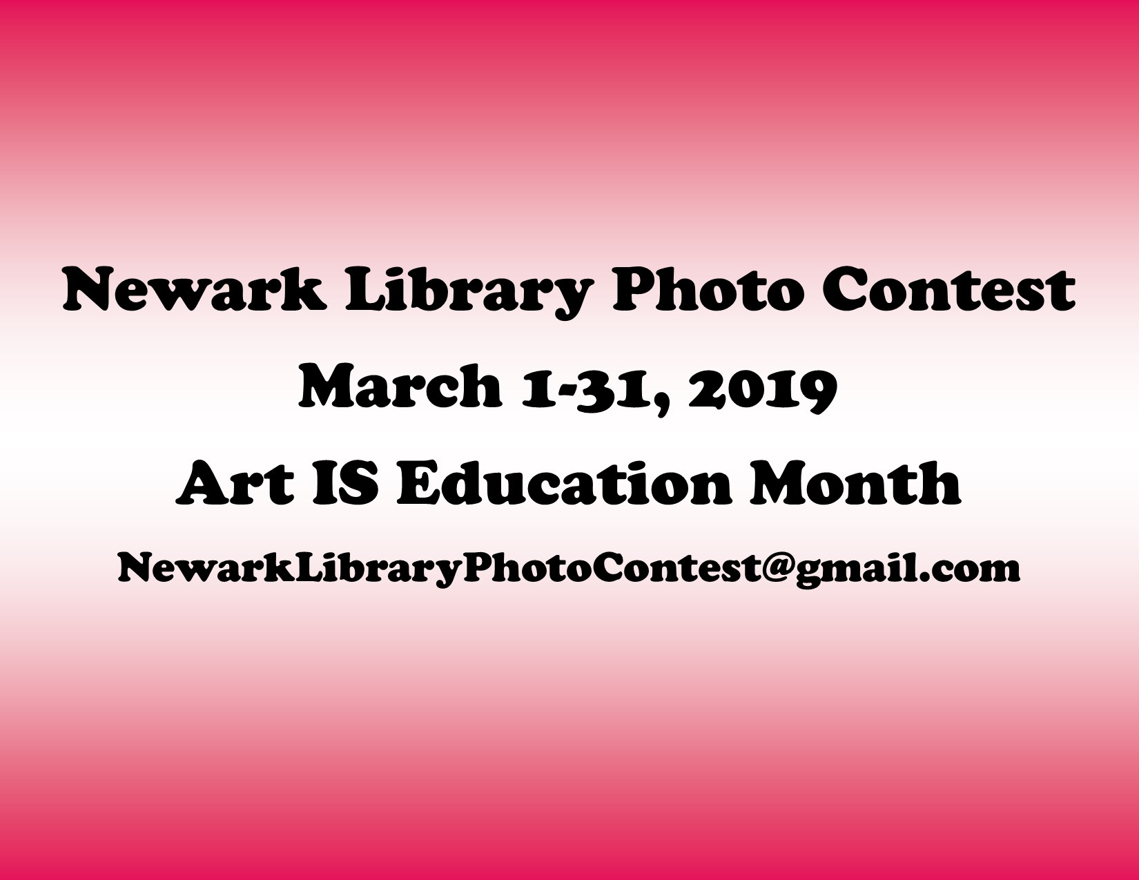 Newark Library Photo Contest