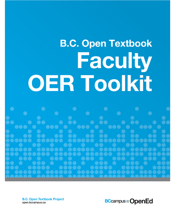 book: faculty OER toolkit