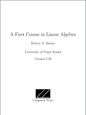 a first course in linear algebra textbook