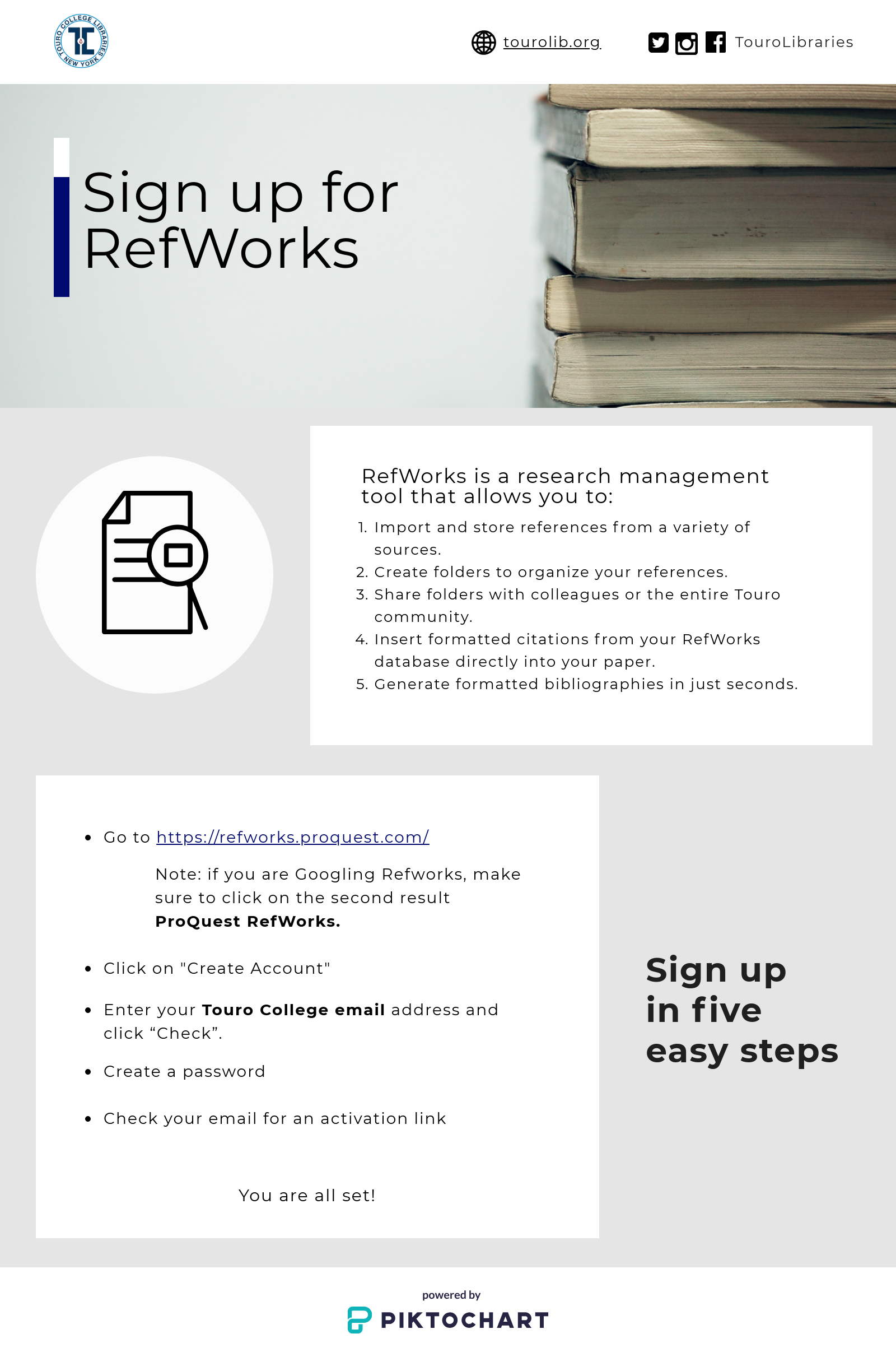 sign up for refworks