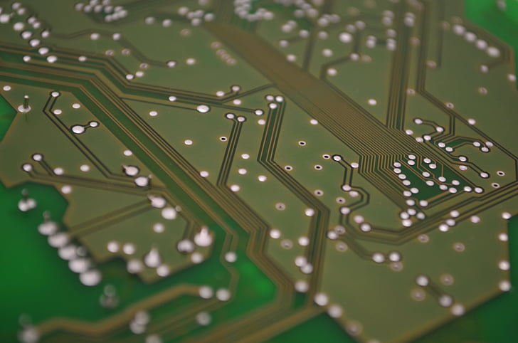 Close up of a circuit board