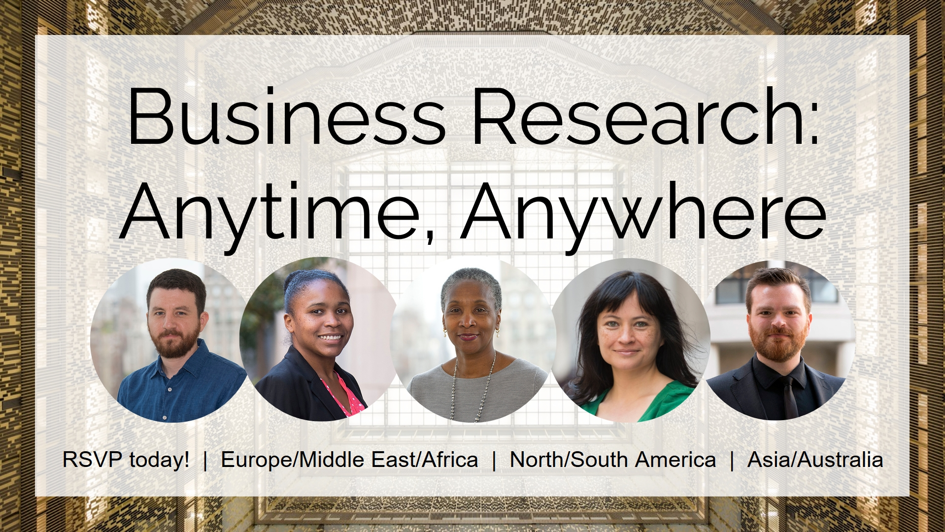 Business Research: Anytime, Anywhere webinar