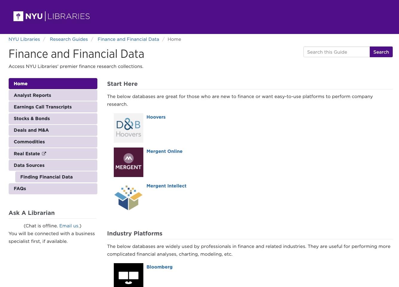finance guide screenshot