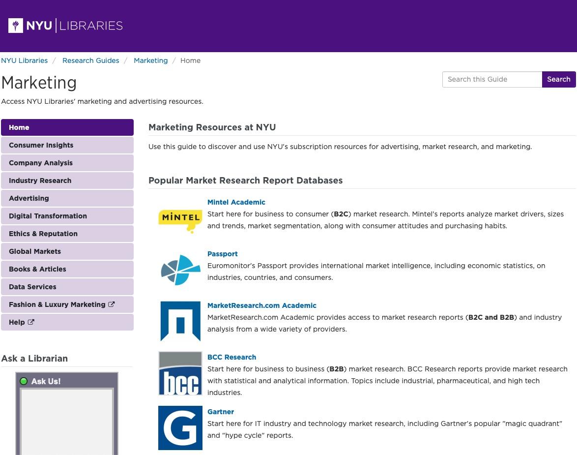 marketing guide screenshot