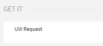 Screenshot of Search@UW UW Request link