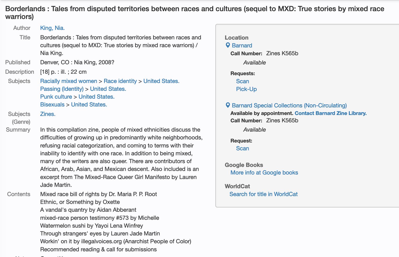 screenshot: view the original, screen readable, at https://clio.columbia.edu/catalog/6917372