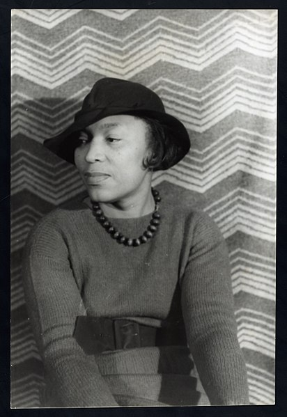 Portrait of Zora Neale Hurston in a hat, 1938