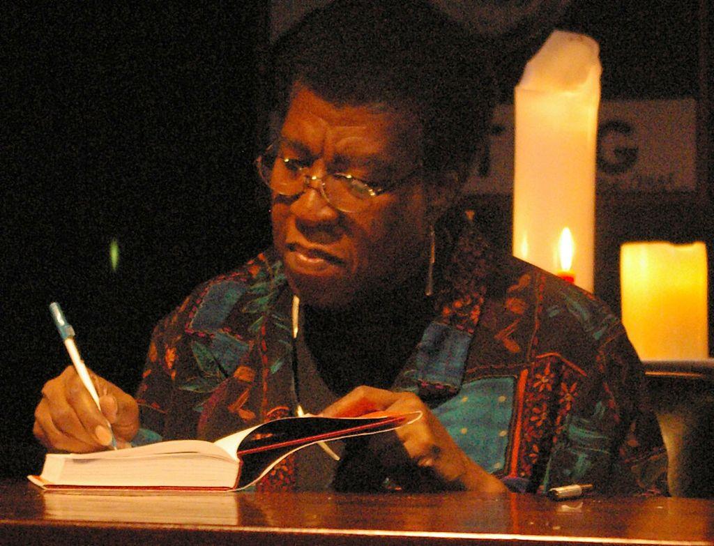 Octavia E. Butler at a book signing