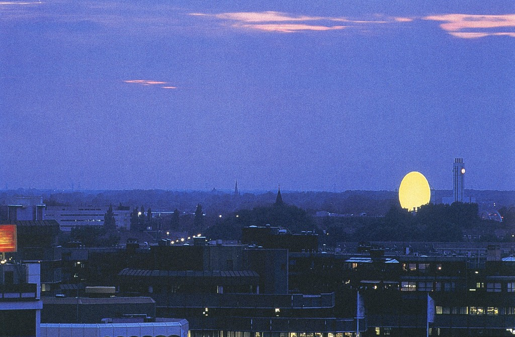 """Photograph of Olafur Eliasson's work """"Double Sunset"""""""