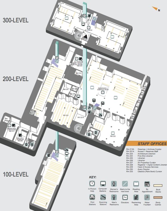 Floorplan of Avery Library