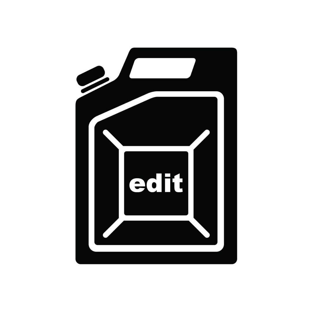 "Image of a gas can with ""edit"" written on the side"