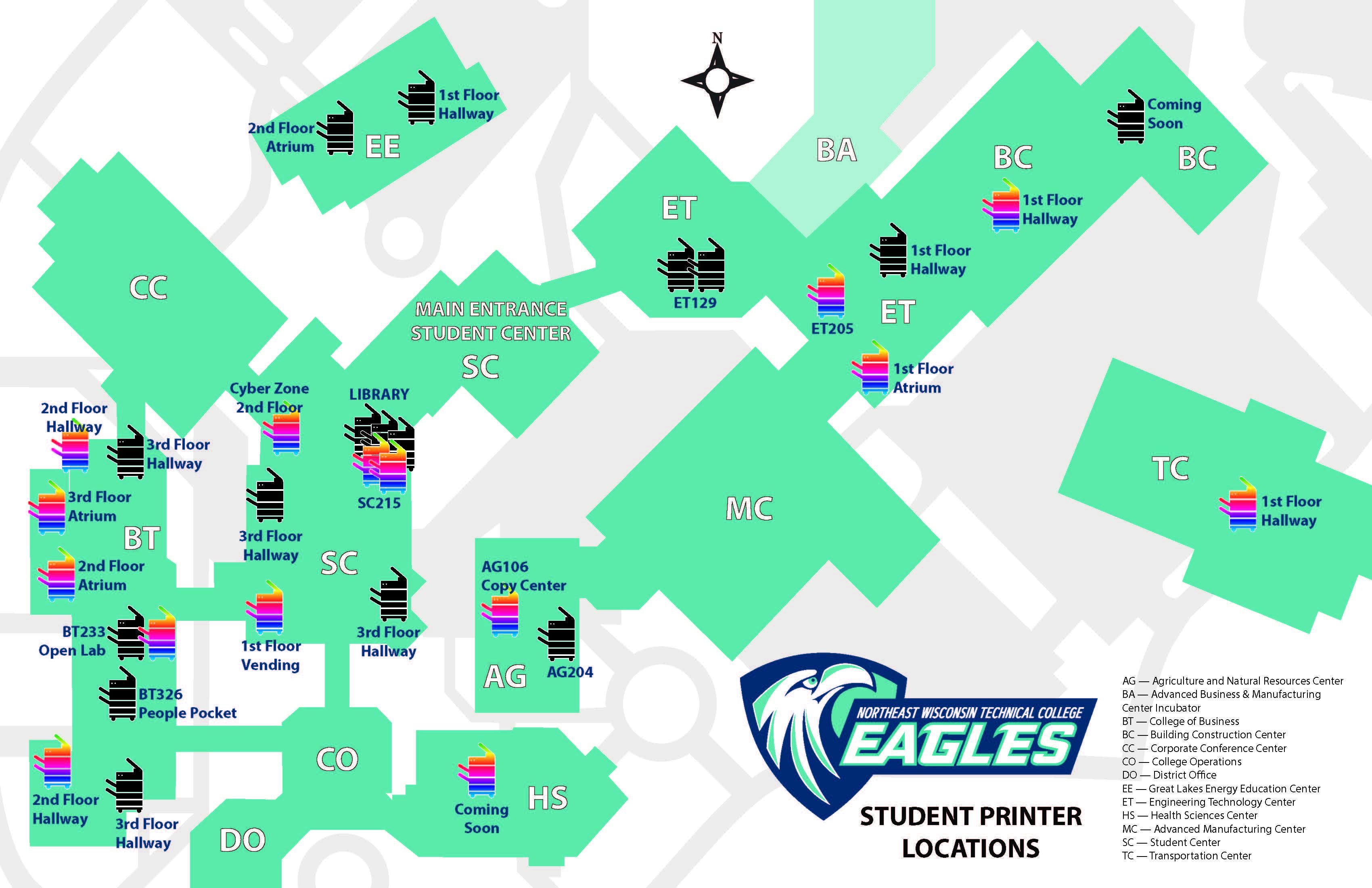 Green Bay Printer Map