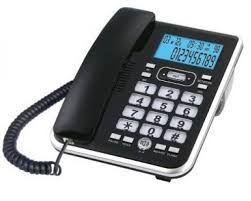 Telephone with interactive display screen