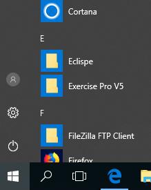 Windows 10 desktop showing the Windows flag for logging off a computer