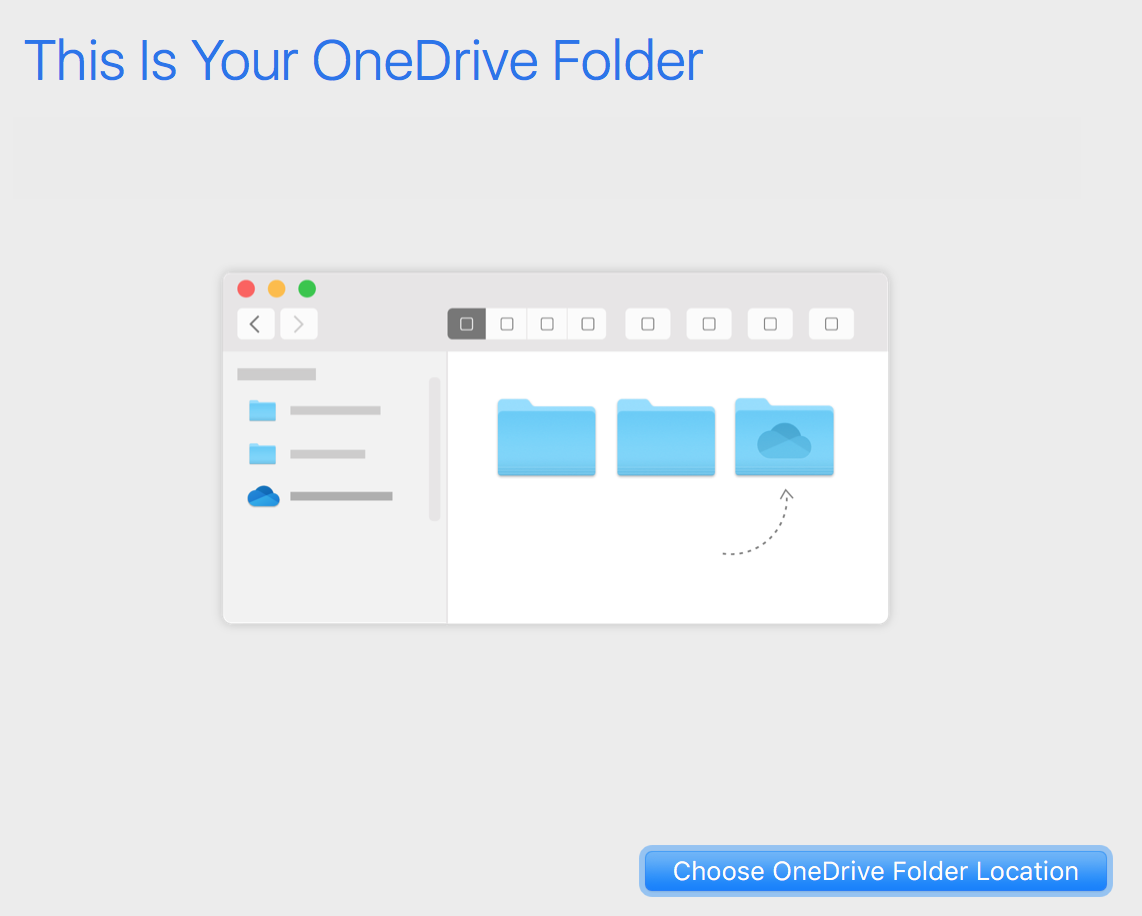 This Is Your OneDrive Folder - Choose OneDrive Folder Location