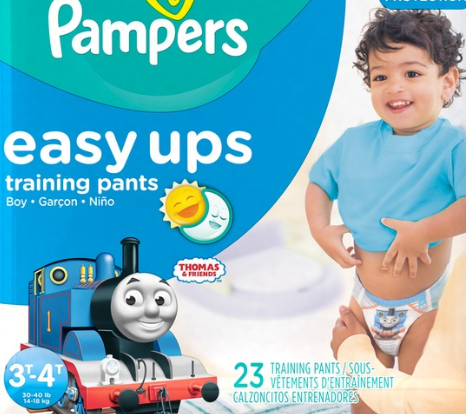 Diapers marketed for boys