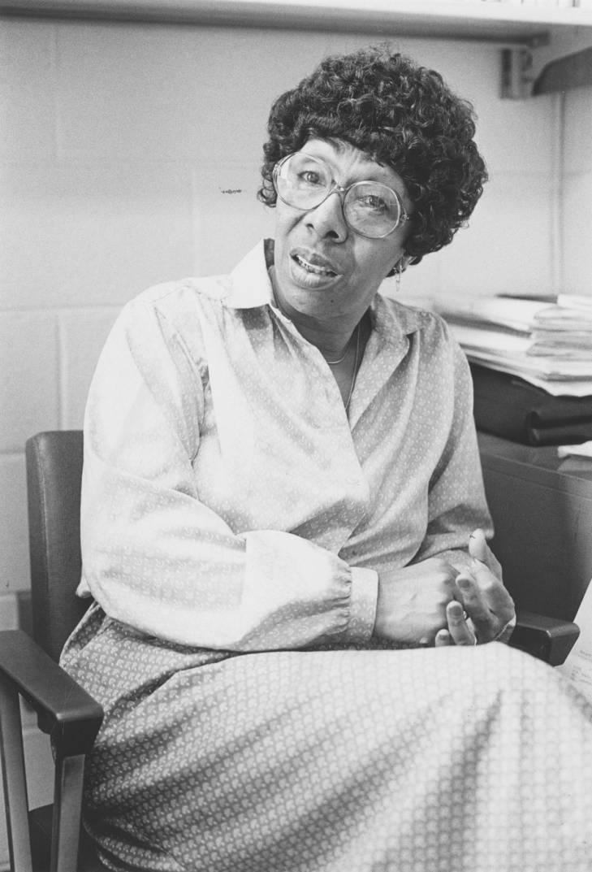 Black and white portrait of Evangeline Ward