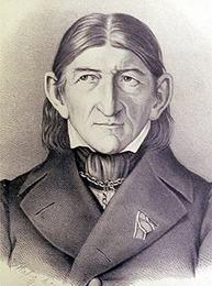 Drawn portrait of Friedrich Froebel