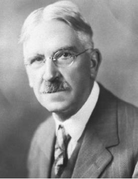 Black and white portrait of John Dewey