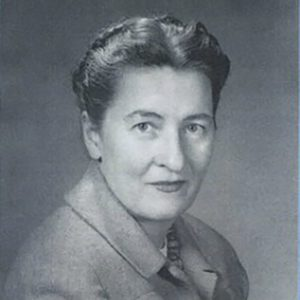 Black and white portrait of Mary Ainsworth