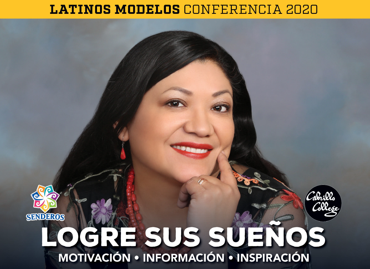 Picture of Reyna Grande advertising Latinos Modelos Conferencia 2020