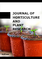 "Cover of the ""Journal of Horticulture and Plant Research"" scholarly journal with pots of seedlings"