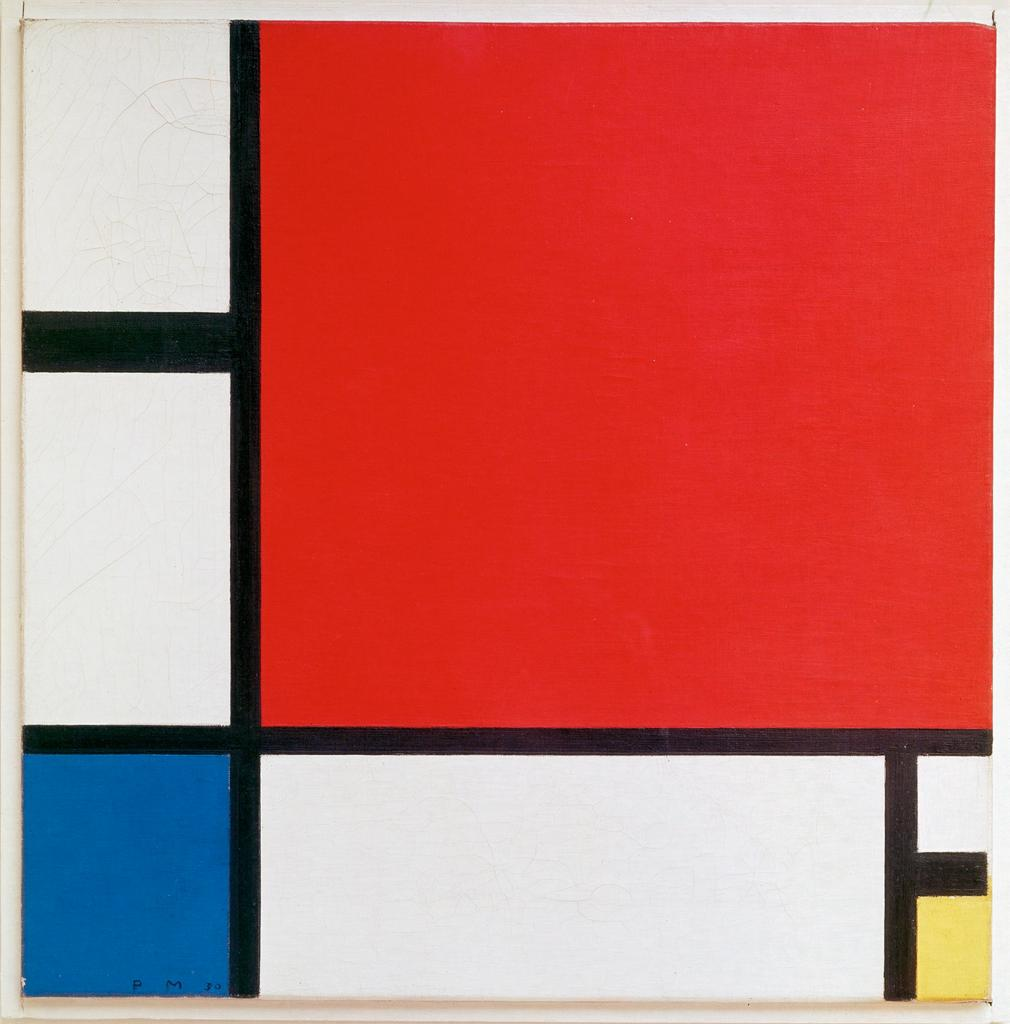 "Piet Mondrian Painting entitled ""Composition with Red, Blue, and Yellow"""